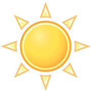 dessin simple soleil