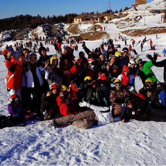 groupe colonie ski