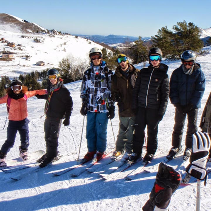 Groupe en colo ski